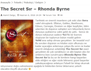 essay on the secret by rhonda byrne Dedicated to you may the secret bring you love and joy for your entire existence that is my intention for you, and for the world.