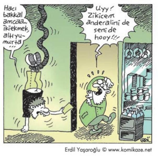 Karikatür Bakkal Haci Amca 18 Argo Içerir